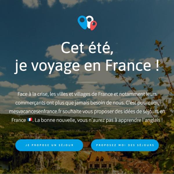 webapp sans coder mesvacancesenfrance.fr