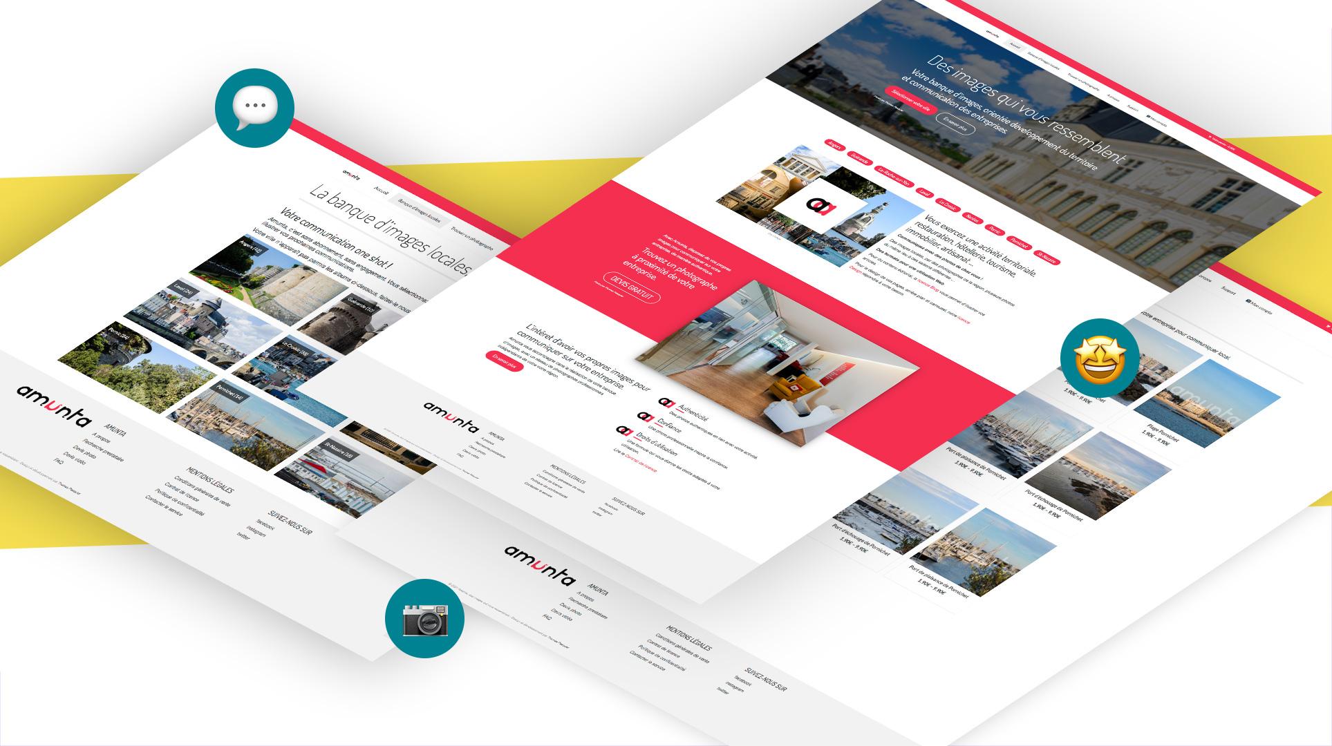 mockup design site e-commerce banque d'images Amunta