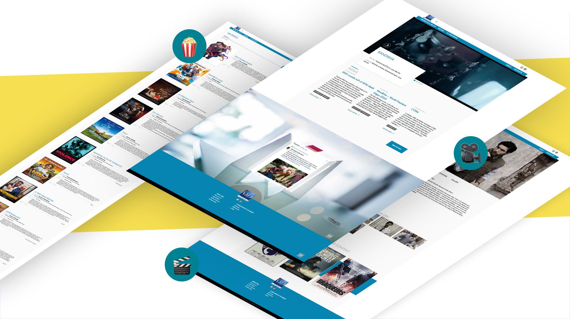 mockup design site vitrine B2B Société Nouvelle de Distribution SND