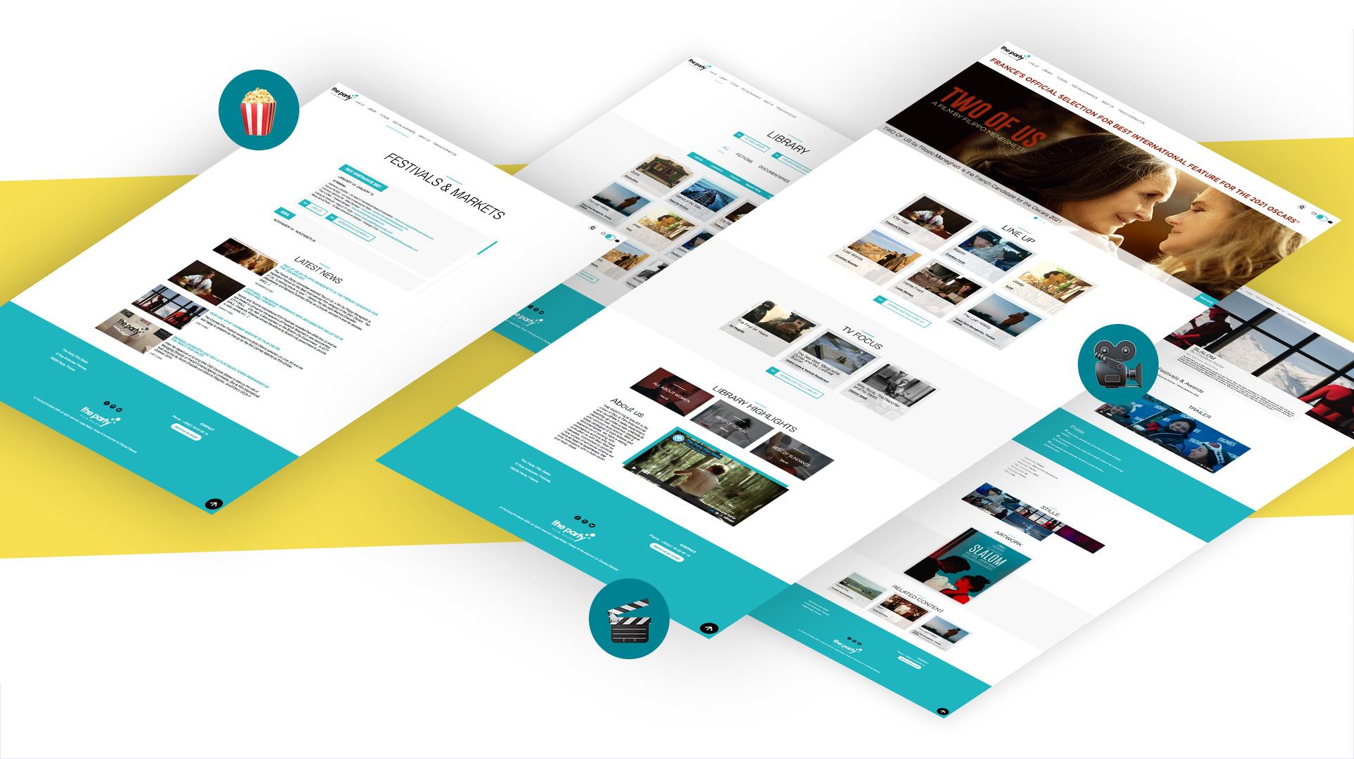 mockup design site vitrine B2B thepartysales